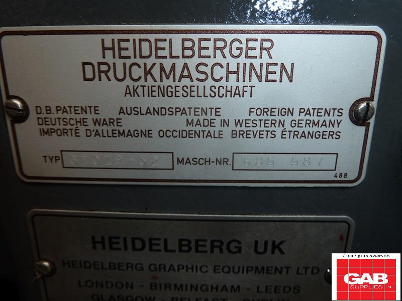 Heidelberg GTO ZP 52 two colour offset