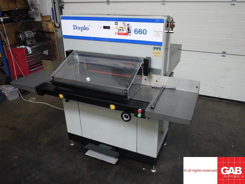 duplo 660 pfi paper cutter for sale