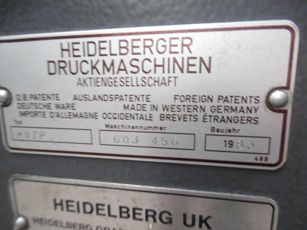HEIDELBERG MOZP-E TWO COLOUR OFFSET