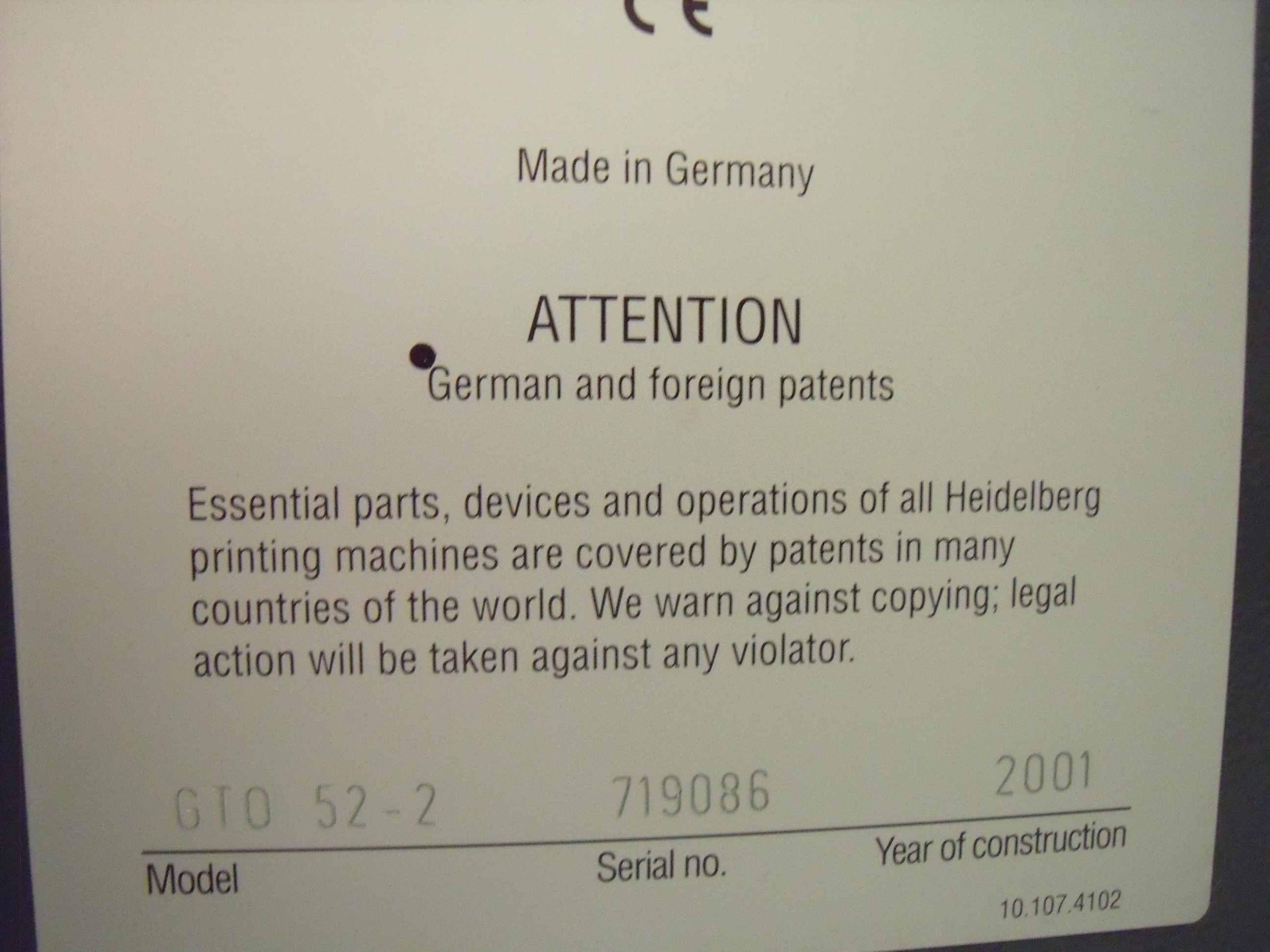 HEIDELBERG PRINT MASTER PM52 OFFSET