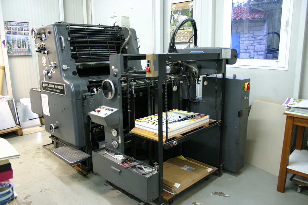 Heidelberg single colour offset printing machine