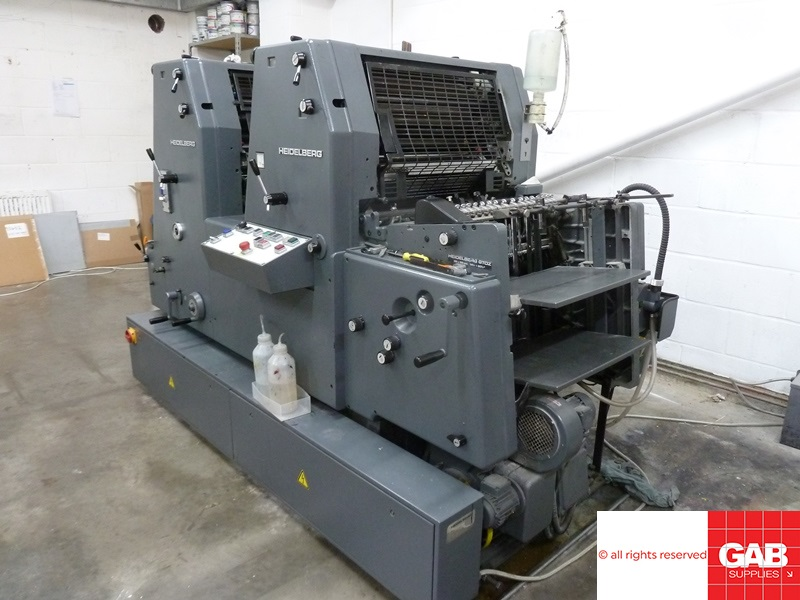 used heidelberg gto z 52 two colour offset printing machine