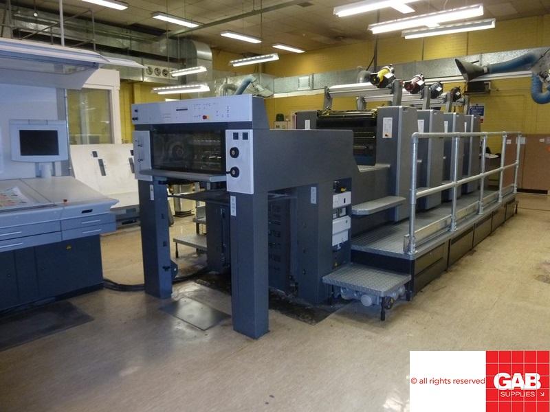 heidelberg sm 74-4h four colour offset press