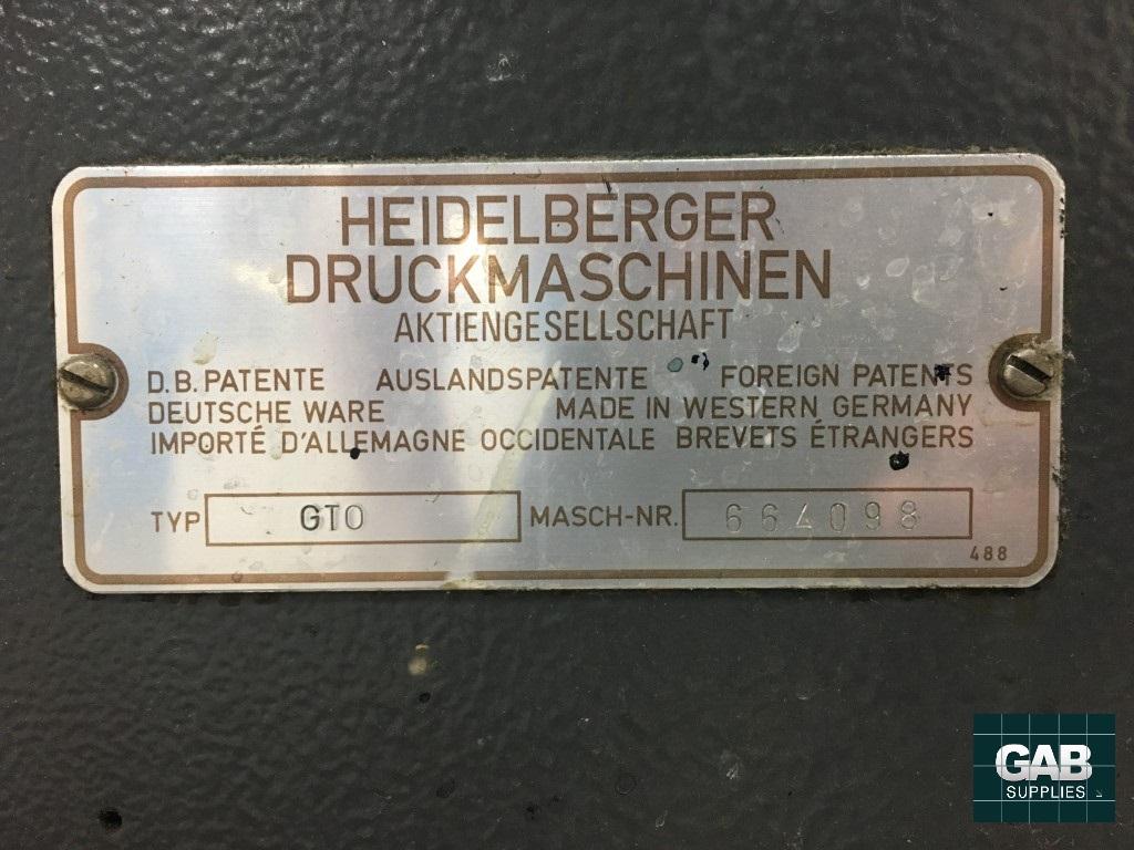 HEIDELBERG GTO46 ONE COLOUR OFFSET