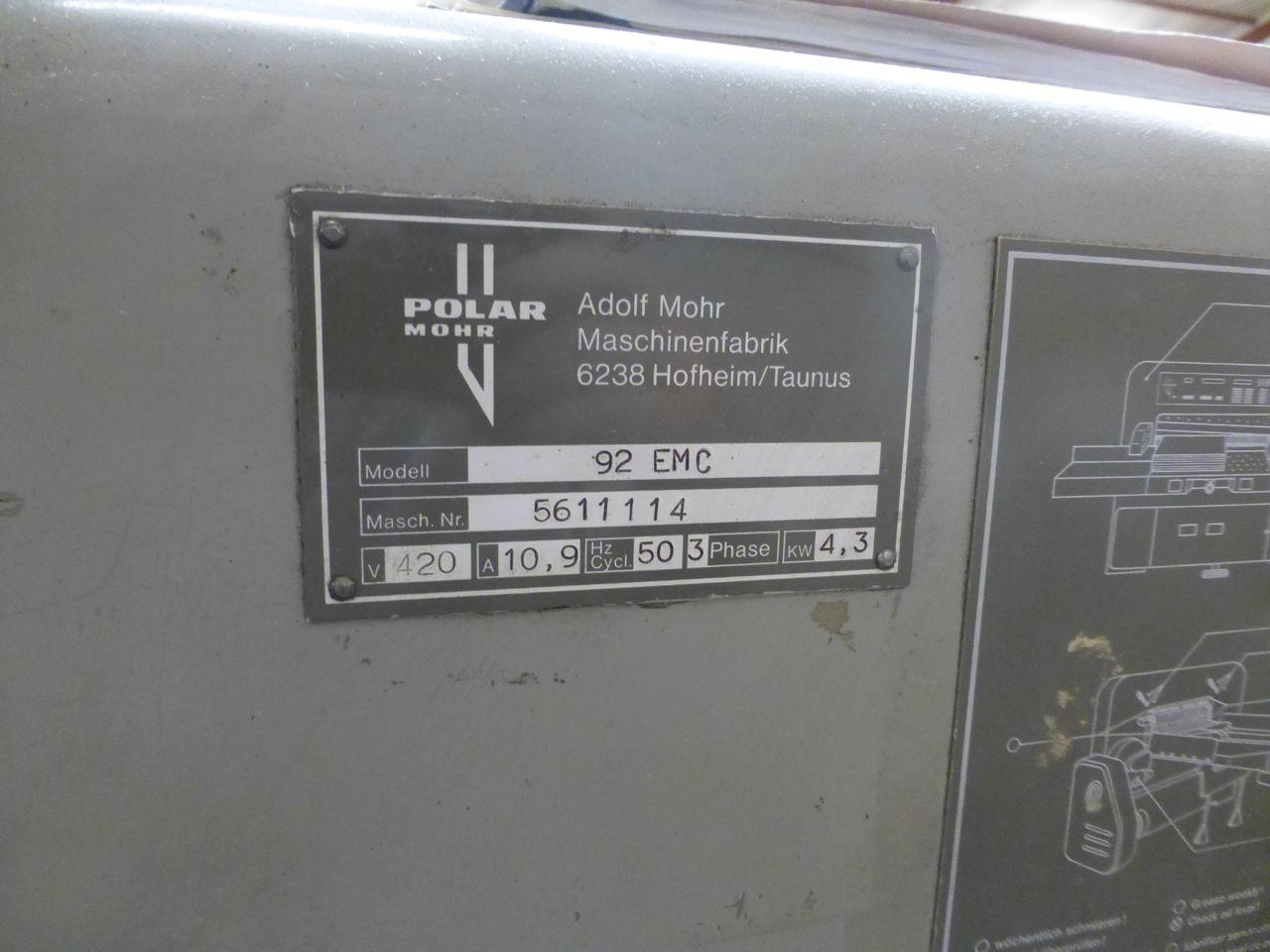 POLAR 92 EMC GUILLOTINE