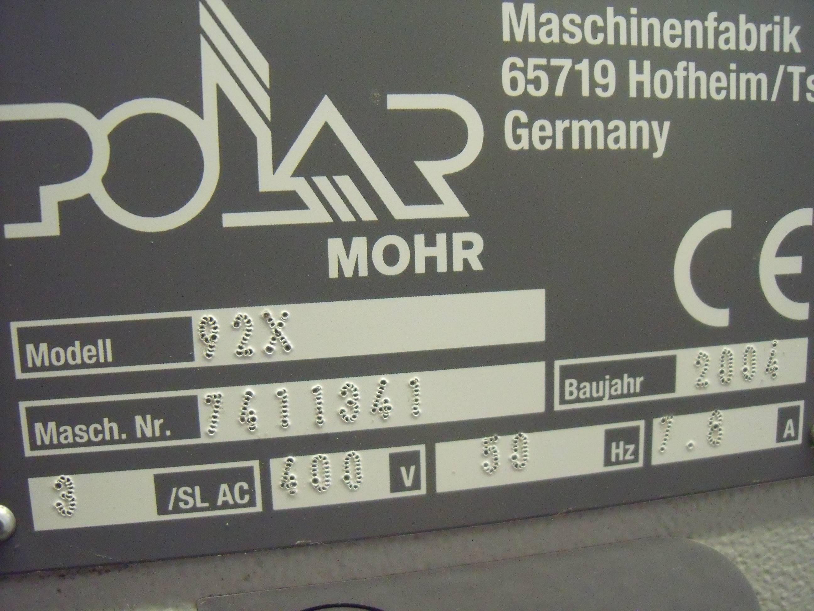 POLAR 92 X GUILLOTINE