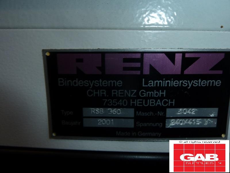 renz rsb 360 wire-o-binder