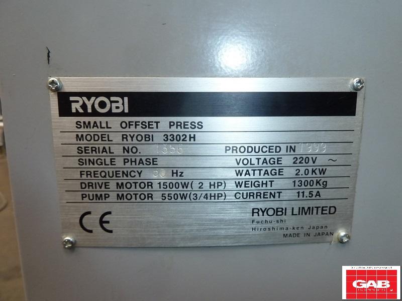 RYOBI 3302 H TWO COLOUR OFFSET