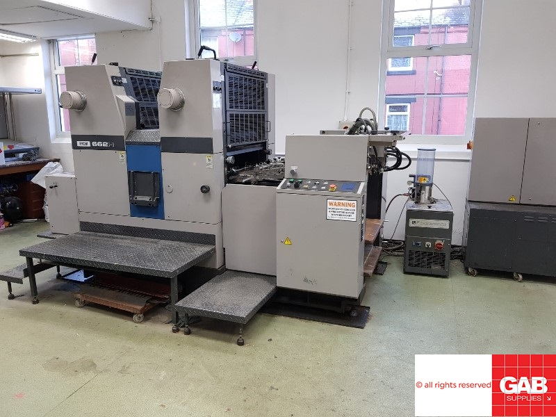 [name_1] Ryobi 662H two colour offset printing machine