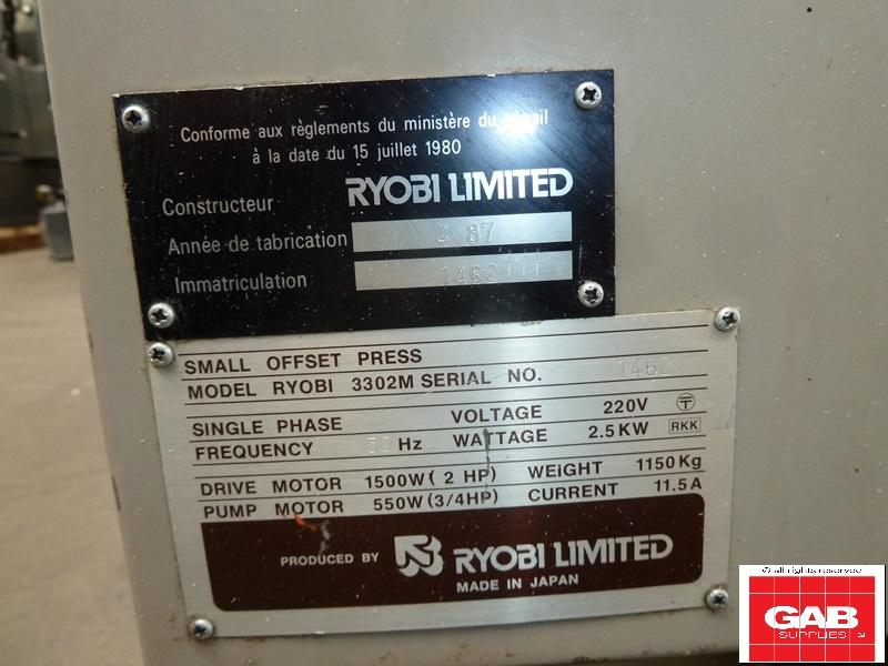 Ryobi 3302M Two Colour Offset