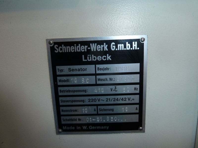 SCHNEIDER 76 SC GUILLOTINE