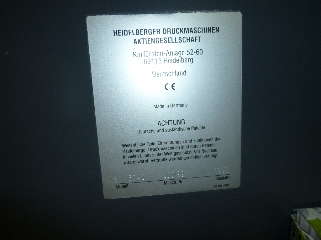 HEIDELBERG SM52 OFFSET