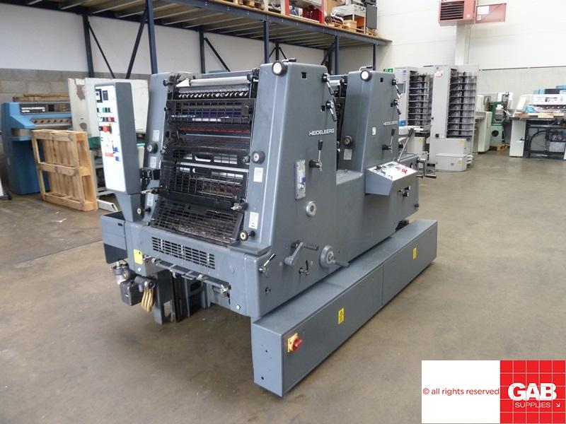 heidelberg gto z-52 two colour printing machine