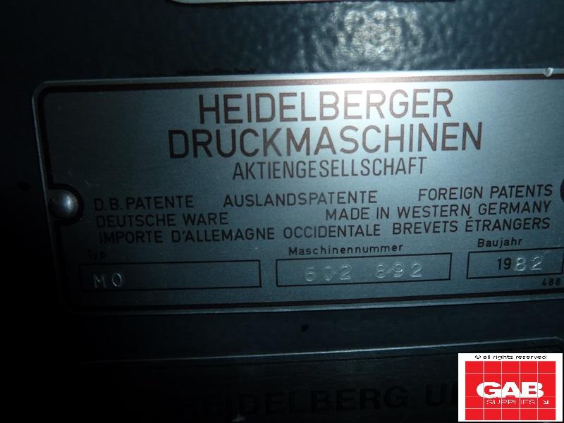 heidelberg moe single colour offset