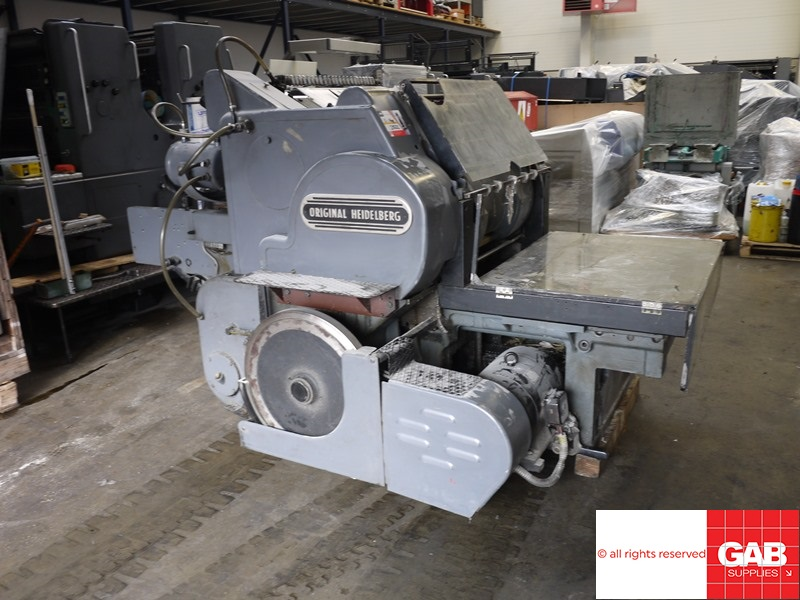 heidelberg sb cylinder die cutter