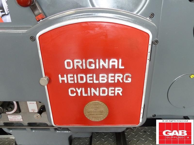 Original heidelberg Cylinder die cutter