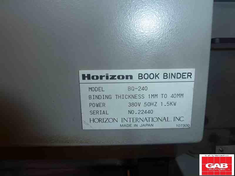 Horizon BQ 240 Perfect Binder
