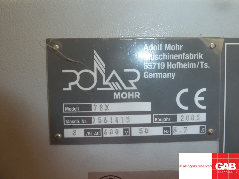 used polar guillotines - Polar 78 X