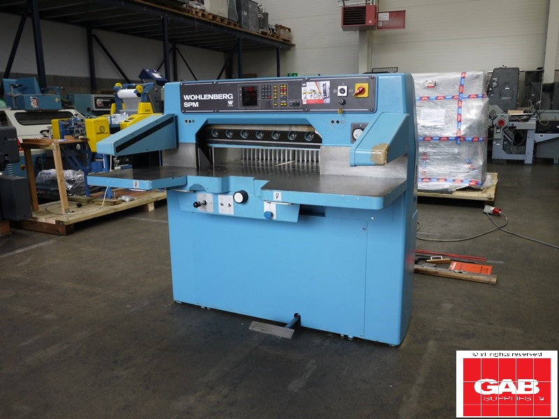 Wohlenberg 76 SPM used paper cutter