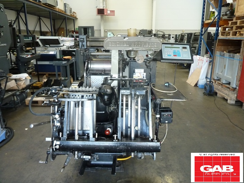 Heidelberg Platen with Hot Foil Attachment