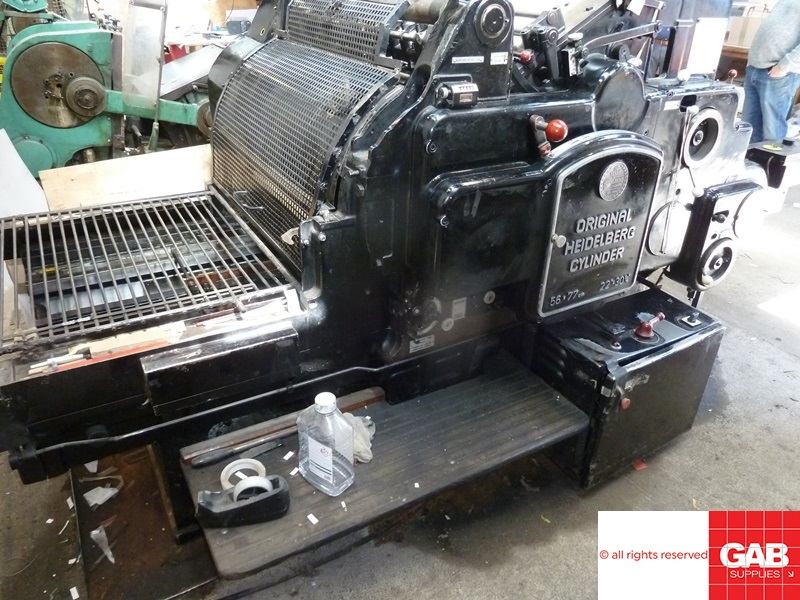 heidelberg sbg cylinder die cutting machine
