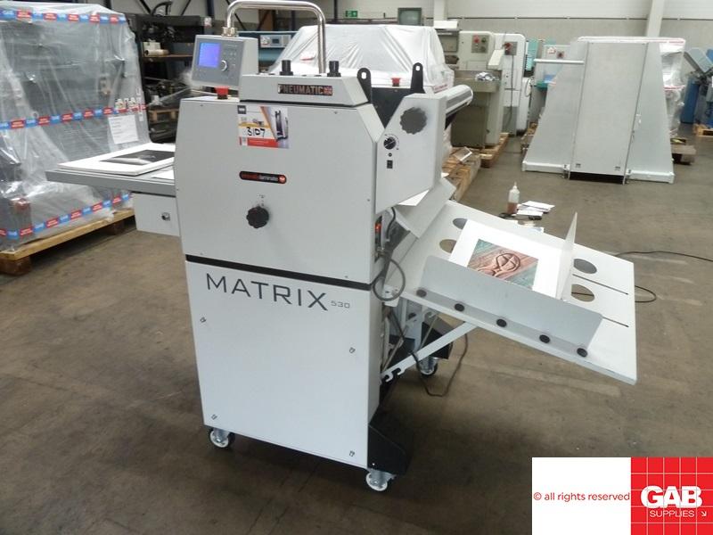 Matrix MX-530P pneumatic laminator with foiling effect
