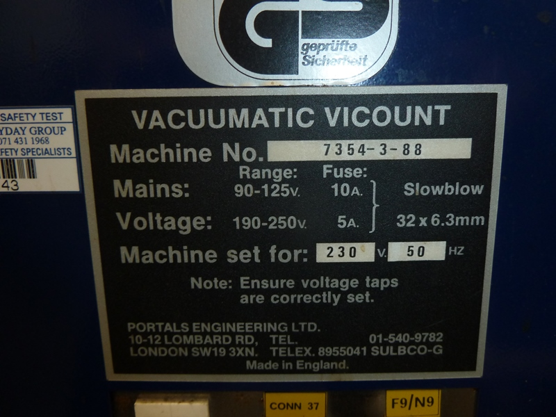 VACCUMATIC VICOUNT PAPER COUNTER