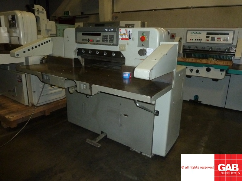 [name_1] 1993 Polar 76 em paper cutter - guillotine
