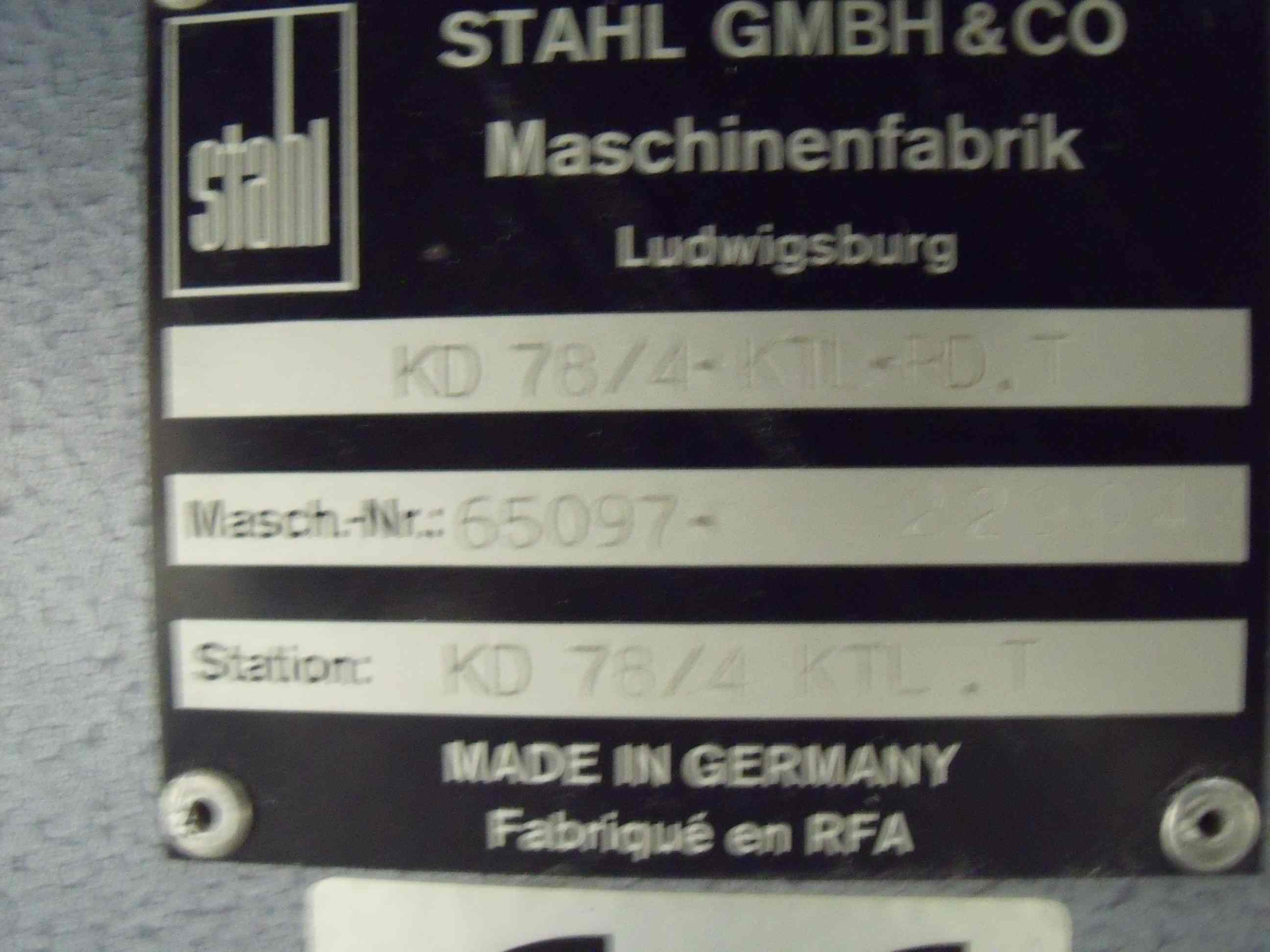 STAHL KD 78/4 KTL PAPER FOLDER