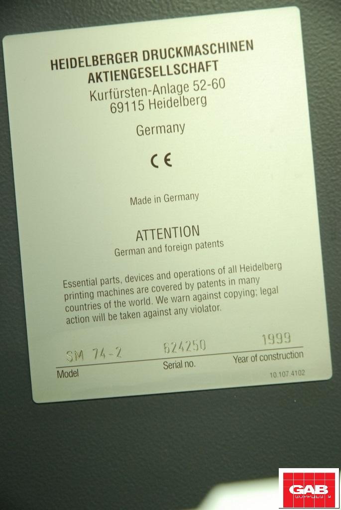 Heidelberg SM 74-2 two colour offset