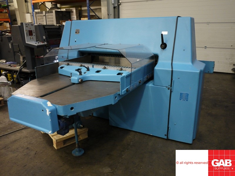 used paper guillotine - wohlenberg 115