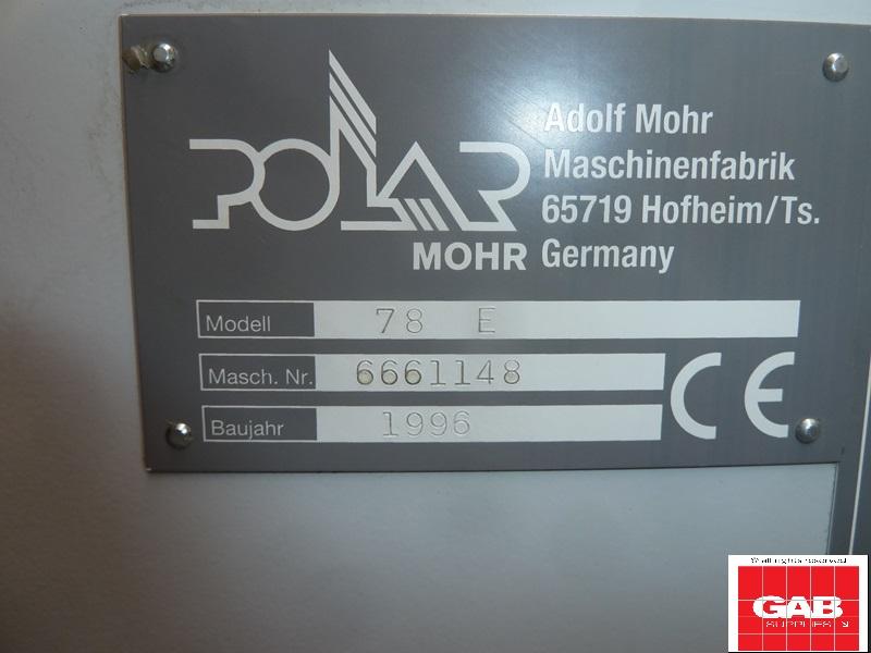 Polar 78 E guillotine