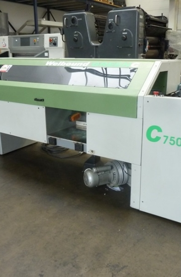 Perfect Binders  Used finishing machines Used Welbound C750 single clamp perfect binder