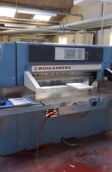 Guillotines  Used finishing machines Wohlenberg 115 guillotine with computacut programs