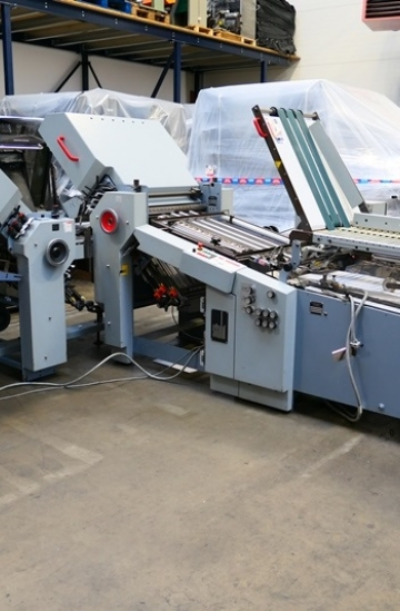Folders  Used finishing machines Heidelberg StahlFolder Ti55/6-52/4-Ri55 paper folding machine with continuous feeder