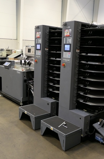 Saddle Stitching  Used finishing machines 2010 Duplo 5000 Pro Booklet maker with 20 stations