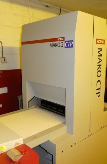 Pre-press  Used pre-press machines ECRM Mako 2 CTP system - 4 up violet CTP