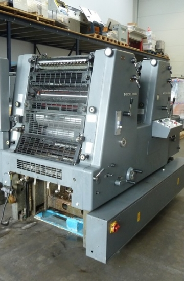 Two colour  Used offset printing machines Heidelberg GTO ZP 52 two colour offset