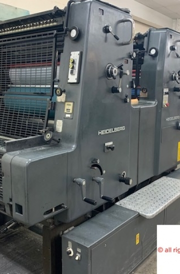 Two colour  Used offset printing machines Used Heidelberg MOZ-E straight two colour offset printing machine