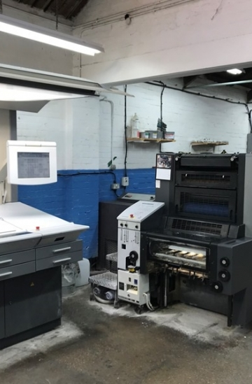 Five colour  Used offset printing machines Heidelberg Speedmaster SM 52-5 straight five color offset printing machine