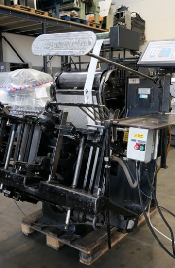Die - cutters  Used finishing machines Heidelberg T-Platen with Hot Foil Stamping