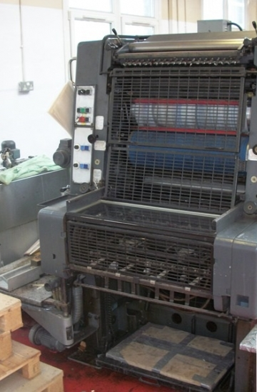 Two colour  Used offset printing machines Used Heidelberg MOZP two color offset printing machine