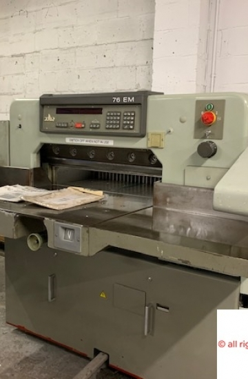 Guillotines  Used finishing machines Polar Mohr 76 EM paper guillotine - paper cutter