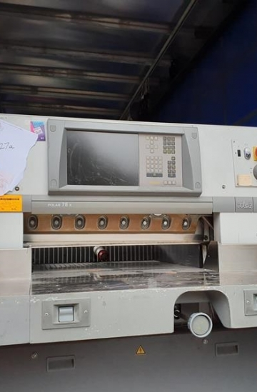 Guillotines  Used finishing machines 2007 Polar 78 XT paper guillotine for sale