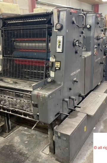 Two colour  Used offset printing machines heidelberg mozp-s 2 color offset printing machine for sale