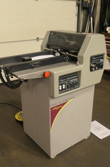 Others  Used other machines Used Morgana FSN rotary numbering machine from UK