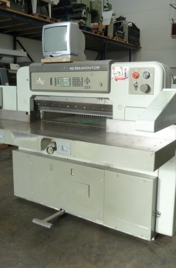 Guillotines  Used finishing machines Used Polar 92 EM-MON guillotine for sale