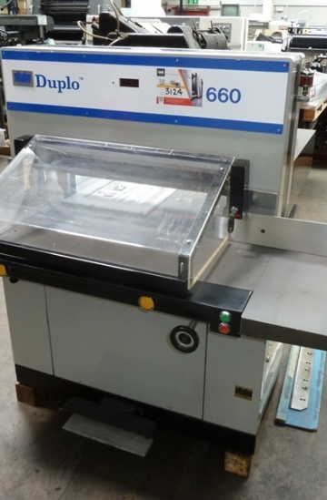 Guillotines  Used finishing machines Used Duplo 660 Guillotine
