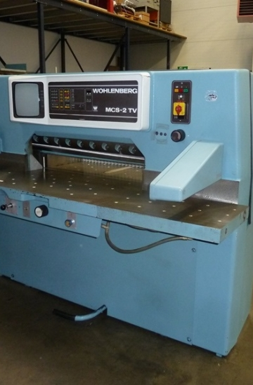 Guillotines  Used finishing machines Wohlenberg 92 MCS-2TV guillotine for sale