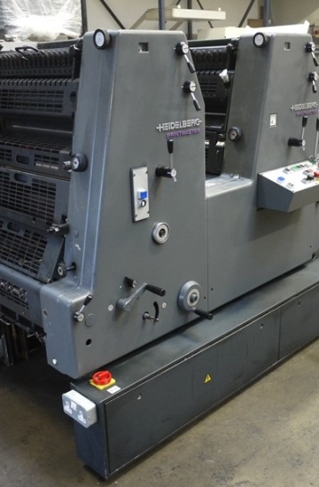 Two colour  Used offset printing machines Used Heidelberg GTO 52-2 two colour print master offset